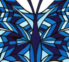 Blue Abstract Butterfly Sticker