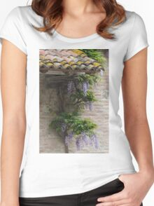 angle architectural Women's Fitted Scoop T-Shirt