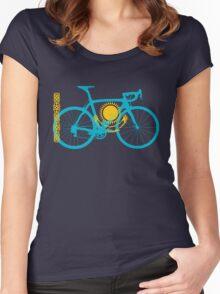 Bike Flag Kazakhstan (Big) Women's Fitted Scoop T-Shirt