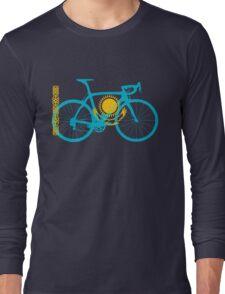Bike Flag Kazakhstan (Big) Long Sleeve T-Shirt