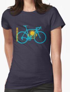 Bike Flag Kazakhstan (Big) Womens Fitted T-Shirt