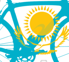 Bike Flag Kazakhstan (Big) Sticker