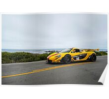 McLaren P1 GTR Driving on 17 Mile Drive Poster