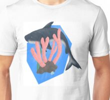 Shark in the Coral Unisex T-Shirt