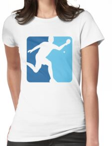 Blue Pong  Womens Fitted T-Shirt
