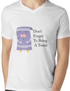 Don't Forget to Bring a Towel- Towelie South Park Mens V-Neck T-Shirt