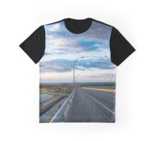 View On Atlantic Ocean And Shinnecock Bay From Ponquogue Bridge | Hampton Bays, New York Graphic T-Shirt