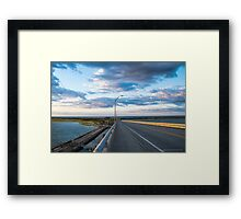View On Atlantic Ocean And Shinnecock Bay From Ponquogue Bridge | Hampton Bays, New York Framed Print