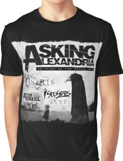 Asking Alexandria 10 years in black Graphic T-Shirt