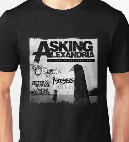 Asking Alexandria 10 years in black Unisex T-Shirt