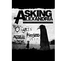 Asking Alexandria 10 years in black Photographic Print