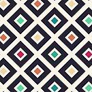 Modern Trendy Geometric Patter in Fresh Vintage Coffee Style Colors by badbugs