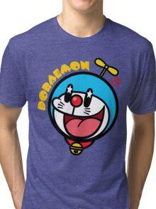 Kawaii Doraemon Tri-blend T-Shirt