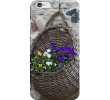 basket with flowers iPhone Case/Skin