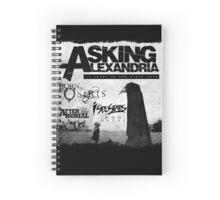 Asking Alexandria 10 years in black Spiral Notebook