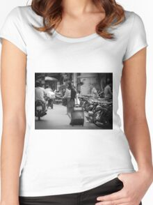 Traveling somewhere? Women's Fitted Scoop T-Shirt