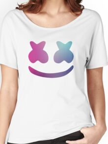 Marshmello - Blue Violet Color Women's Relaxed Fit T-Shirt