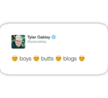 Boys, Blogs, Butts with picture Sticker