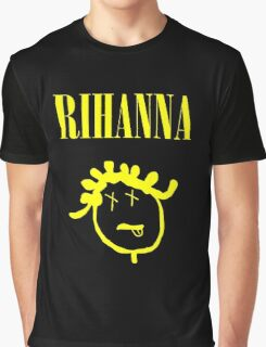 Rihanna Nirvana Graphic T-Shirt