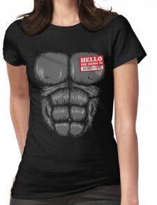 Gorilla Halloween Womens Fitted T-Shirt