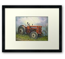 Old International Farm Tractor Framed Print