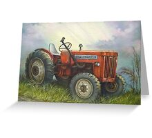 Old International Farm Tractor Greeting Card