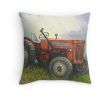 Old International Farm Tractor Throw Pillow