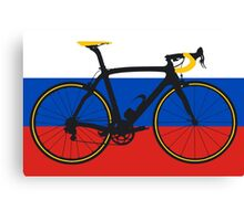 Bike Flag Russia (Big - Highlight) Canvas Print