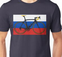Bike Flag Russia (Big - Highlight) Unisex T-Shirt