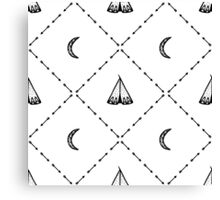 Pattern of tipi 2.  Black on white. Canvas Print