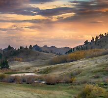 Sunset in the Bear Paws, Montana by Donna Ridgway