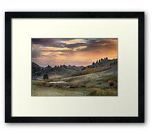 Sunset in the Bear Paws, Montana Framed Print