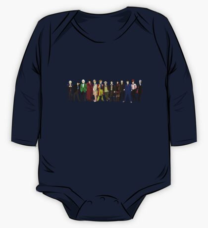 Doctor Who - 13 Doctors lineup One Piece - Long Sleeve