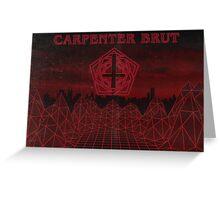 Carpenter Brut poster Greeting Card