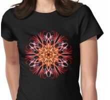 Synchronicity Weaving & Spirit of Life Unfolding Mandala - Energetic Geometry Fractal  Womens Fitted T-Shirt