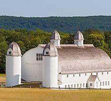 Huge White Barn in Michigan by Kenneth Keifer