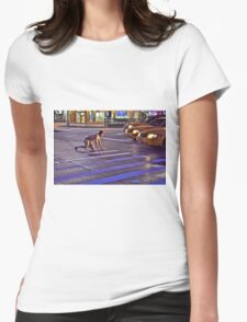 TAXI TARZAN Womens Fitted T-Shirt