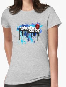 Static Drop 3D (1) Womens Fitted T-Shirt