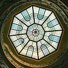 Vatican Museum Stairway, Looking UP by Barbara  Brown