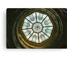 Vatican Museum Stairway, Looking UP Canvas Print
