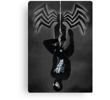 Black Suit Spiderman Canvas Print