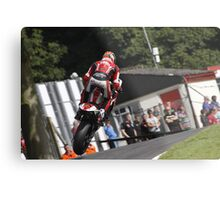 Josh Brookes jumps the mountain at Cadwell Park. UK Metal Print