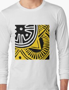 African Inspired Bold Graphic Pattern Long Sleeve T-Shirt