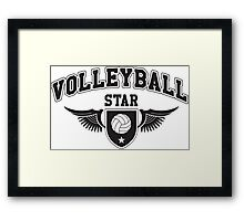 Volleyball star Framed Print