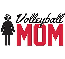 Volleyball Mom Photographic Print