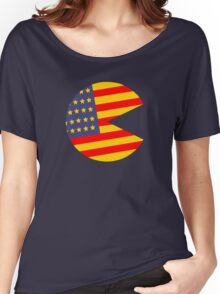 Red Pac and Blue Women's Relaxed Fit T-Shirt