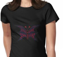 Blue-Red Butterfly Womens Fitted T-Shirt