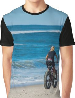 Fatbike - Atlantic Ocean | Fire Island, New York Graphic T-Shirt