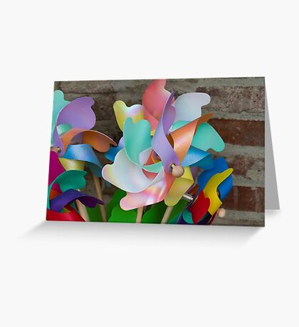 colored pinwheel Greeting Card