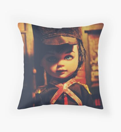 Toy Soldier Doll: Ver.2 Throw Pillow